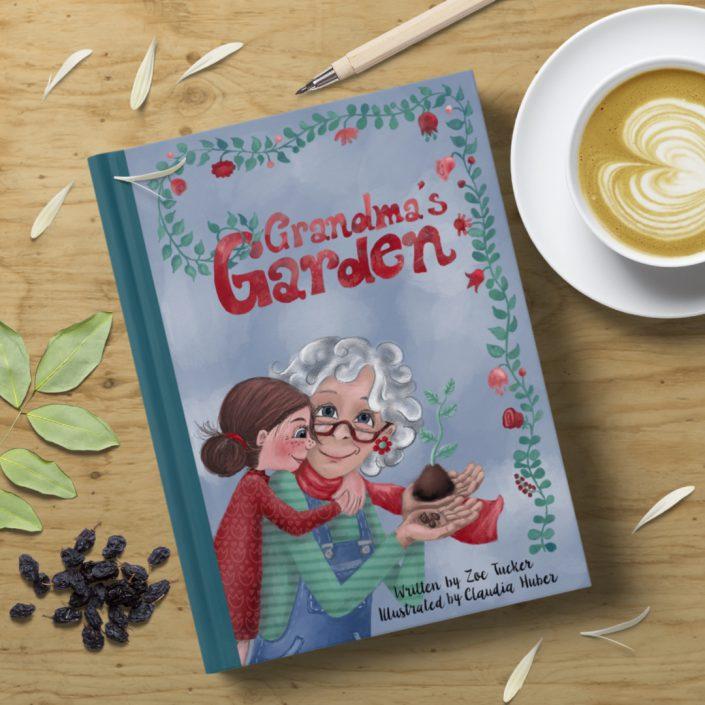 """Buch-Cover """"Grandmas Garden"""""""