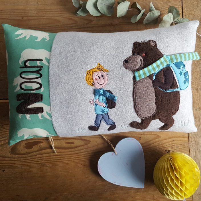 Kissen Noah & sein Freund der Bär