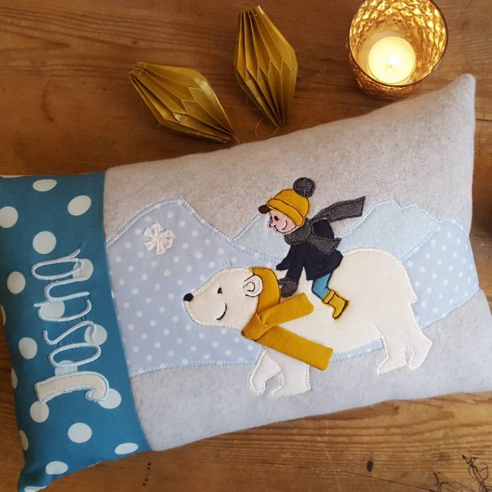 Joscha & der Eisbär – Kissen